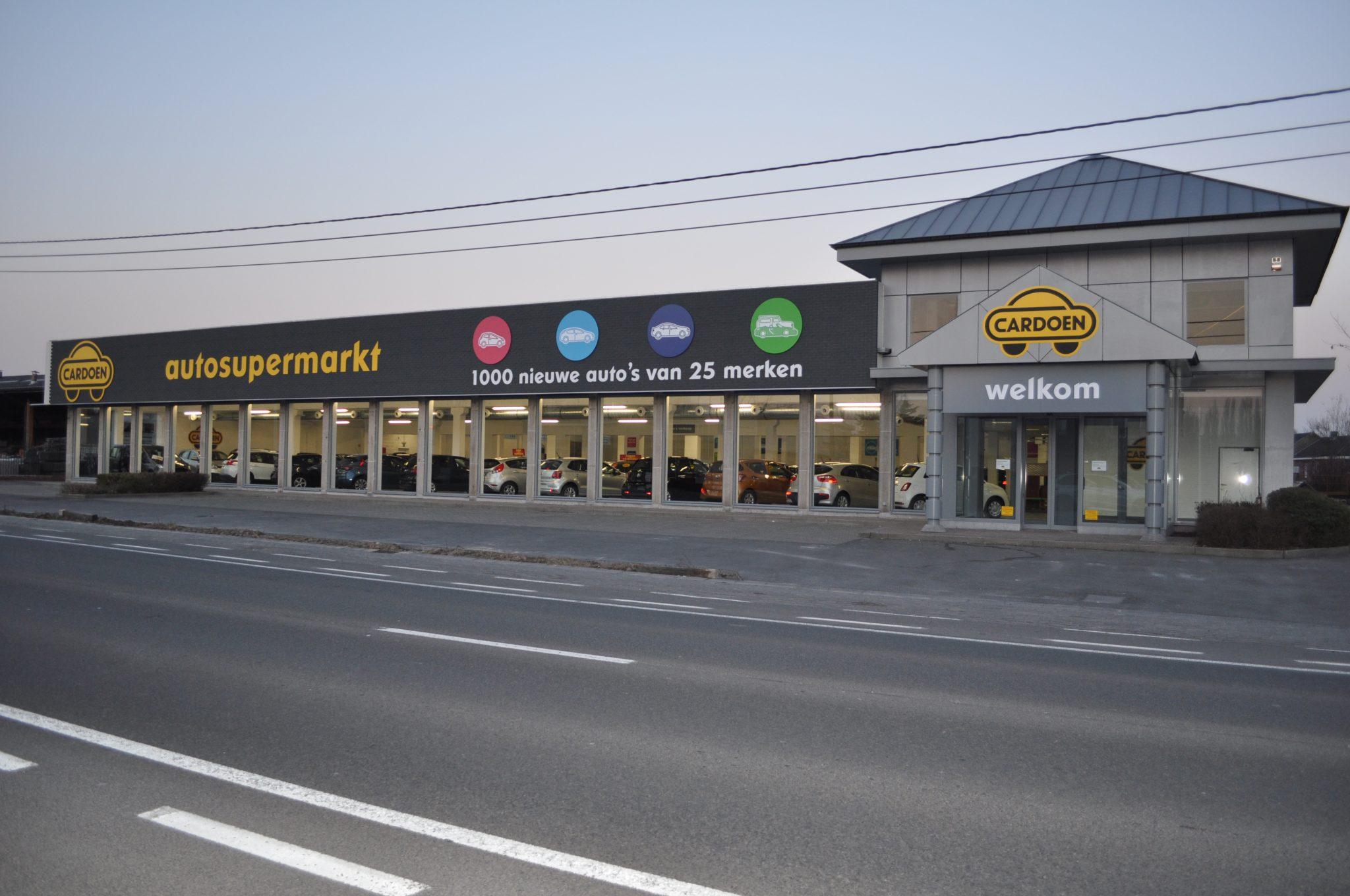 Coverstone gevelpanelen - showroom autosupermarkt Kortrijk