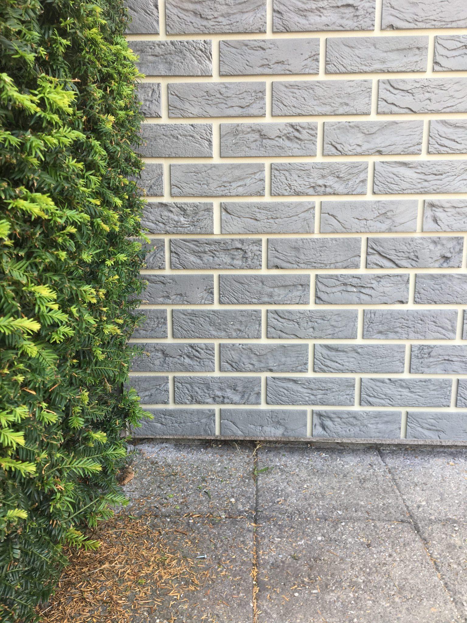 Coverstone gevelpanelen in grantiegrijze kleur